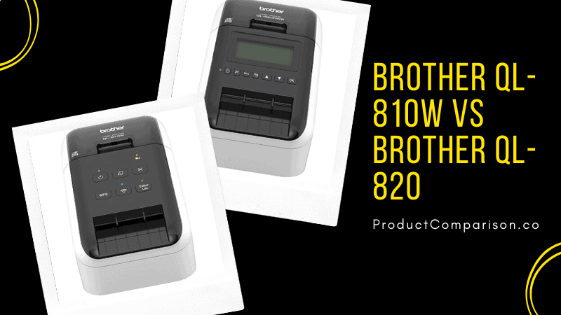 Brother QL-810W vs Brother QL-820