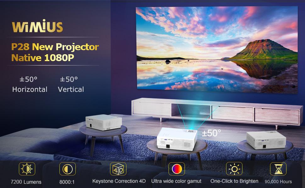 WiMiUS P28 vs K3 projector reviews and comparison