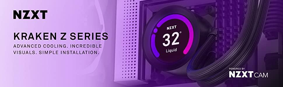 NZXT Kraken Z73 360mm - RL-KRZ73-01 - AIO RGB CPU Liquid Cooler