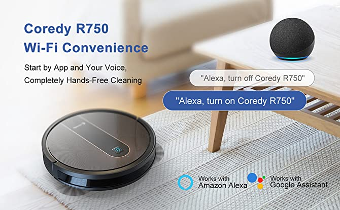 Robot Vacuum Cleaner Review Coredy R650 and R750